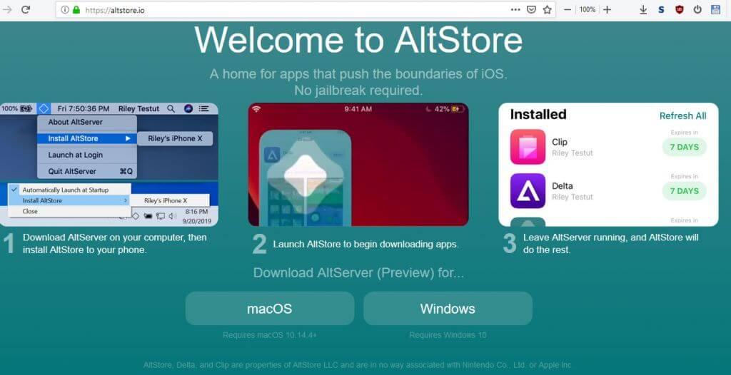 На iPhone з'явився AltStore