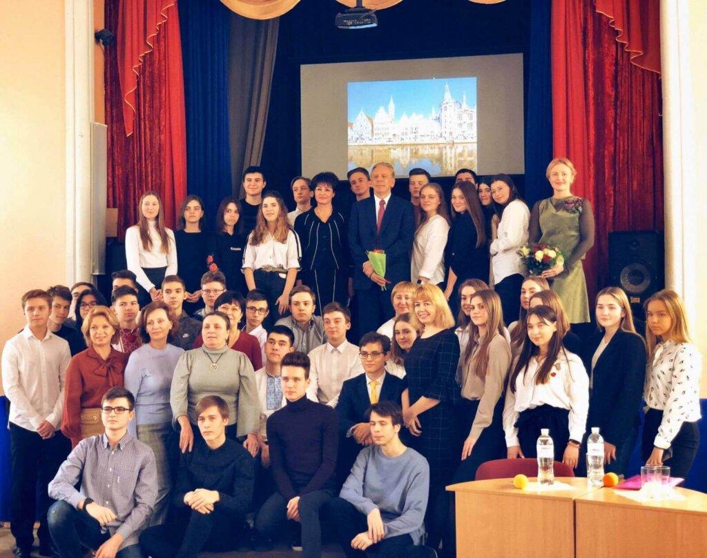 Омріяна зустріч школярів: відверта розмова із Alex Lenaerts