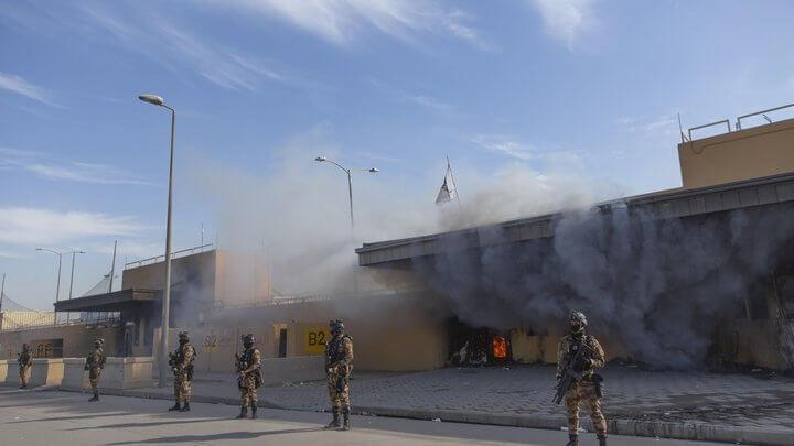 В Багдаді територію біля посольства США знову обстріляли ракетами
