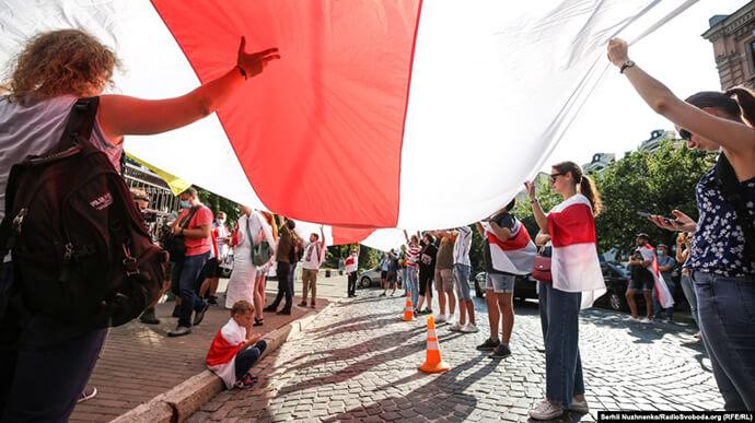У Києві підтримали протестувальників Білорусі