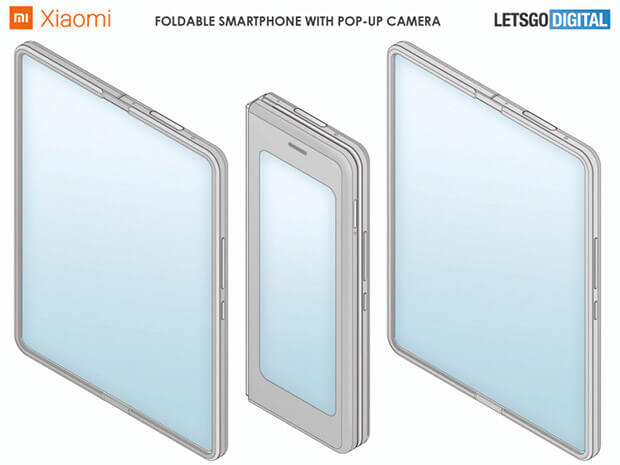 Xiaomi запатентувала розкладний смартфон з висувною камерою