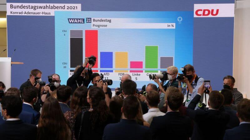 Вибори в Німеччині: партія Меркель втрачає лідерство й набирає однаково з соціал-демократами